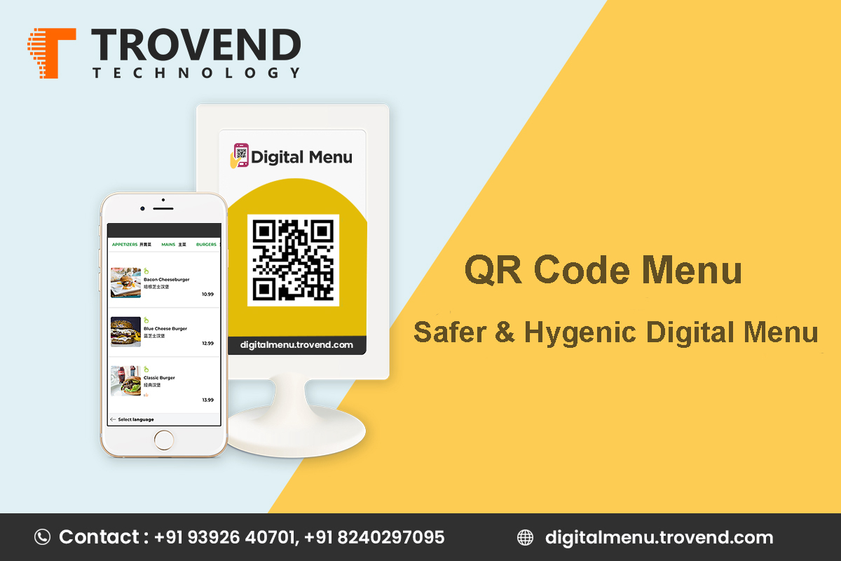 QR Code Menu: Safe & Hygienic Digital Menu by Trovend Technology