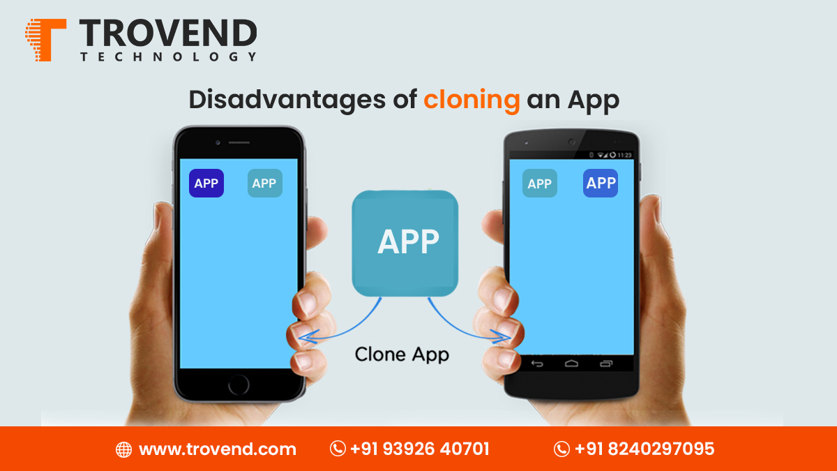Disadvantages of cloning an App by Trovend Technology